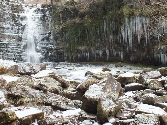 Blaen Y Glyn photography walk-Frozen Waterfall