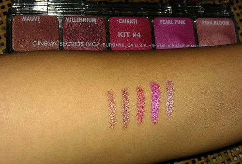 Kit 4 swatches