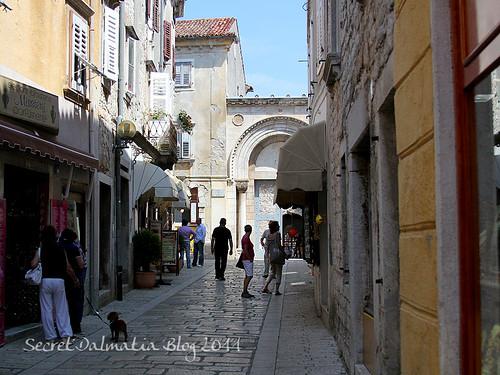 The entrance to Euphrasian Basilica