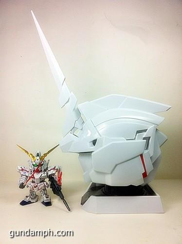 Banpresto Gundam Unicorn Head Display  Unboxing  Review (53)