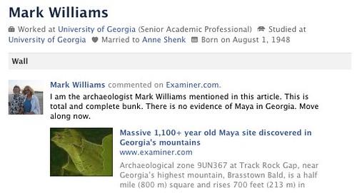 Georgia Mayans a hoax