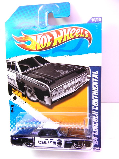 HOT WHEELS '64 LINCOLN CONTINENTAL POLICE (1)