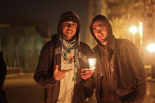 Ahmed Aggour and Mohammed Tawakol in Tahrir
