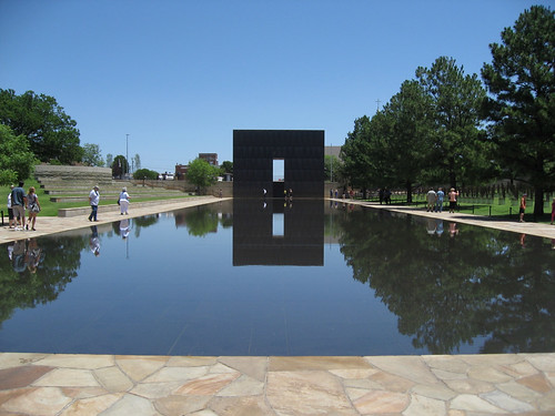 Gate and reflecting pool