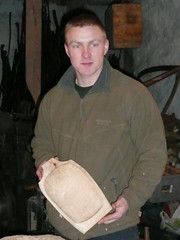 Sam with green wood bowl