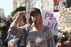 Cindy Sheehan at San Francisco Rally