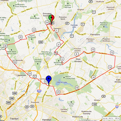 09. Bike Route Map. Princeton NJ