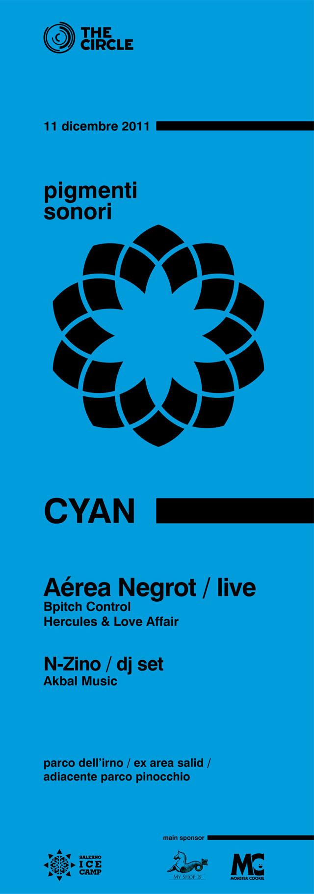 "The Circle presenta ""CYAN"" Aérea Negrot live, domenica 11 dicembre Ice Camp"