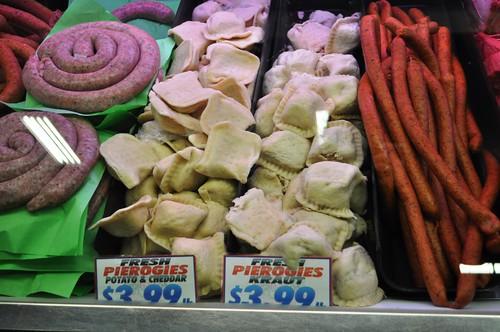 Fresh Pierogies, Broadway Market, Buffalo, N.Y., Dec. 23, 2011