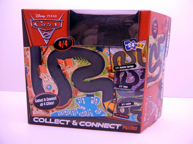 DISNEY CARS 2 COLLECT AND CONNECT PUZZLE #4 PORTO CORSA FRANCESCO EXCLUSIVE (1)