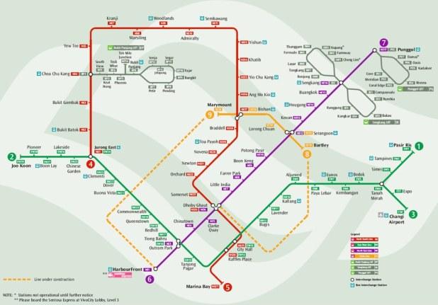Mapa Metro Singapur