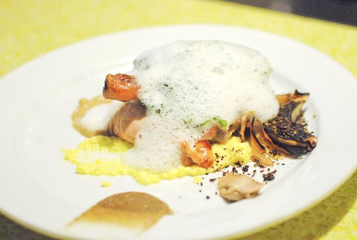Jidori Chicken, Parmesan Soubise, Broccoli, Walnuts, Eggs