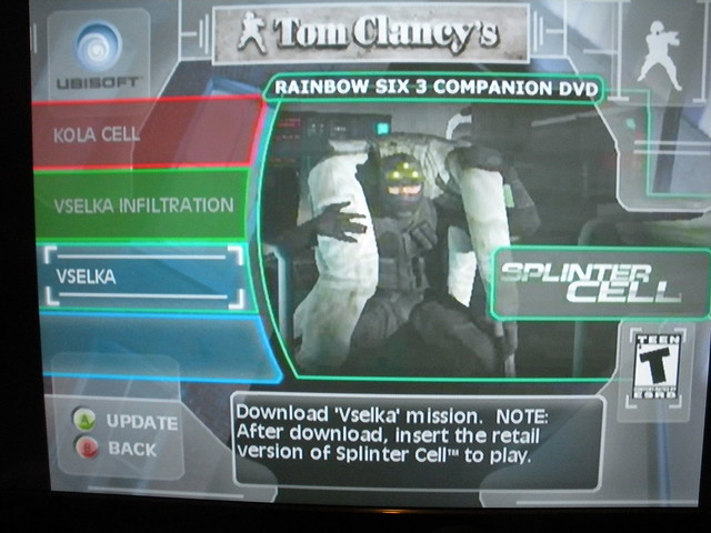 Downloadable mission section