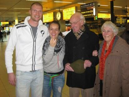 Stevens grand parents at Schiphol
