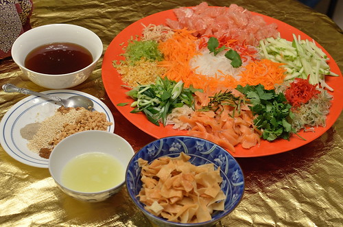 Yee Sung/Lo Hei ingredients