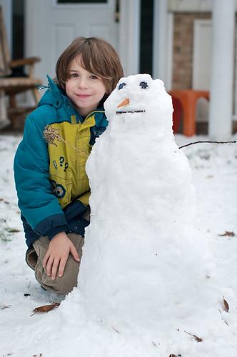 First Snowman...