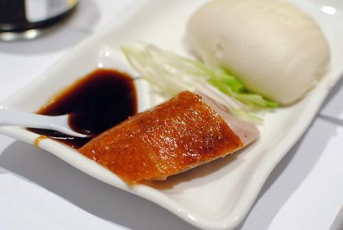 sliced peking duck