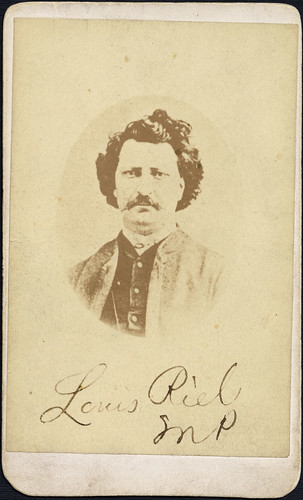 Louis Riel (1844-1885) Carte-de-visite studio portrait taken in Ottawa after Riel was elected the Member of Parliament for Provencher, Manitoba, 1873