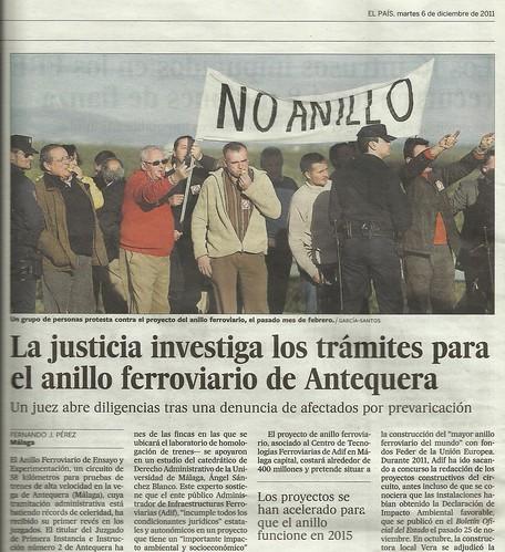 Protesta Anillo Alta Velocidad Antequera.