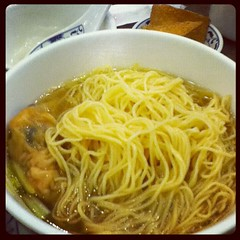 Wanton shuigao mein at McNoodle House, Richmond