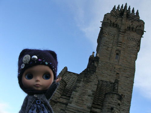 Laurel at the Wallace Monument, Stirling