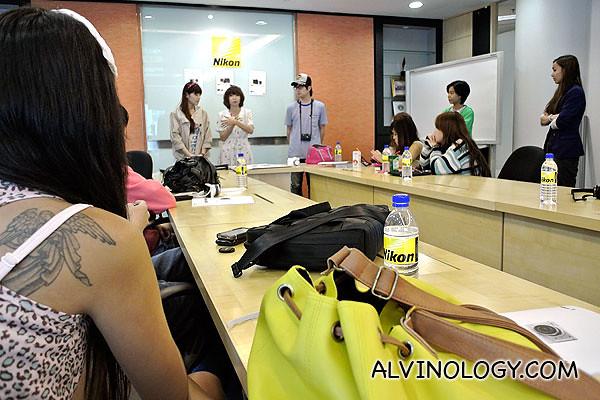 Briefing at Nikon School