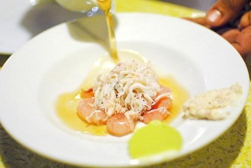 Crab Meat, Shrimp, Avocado Guacamole, Pomelos