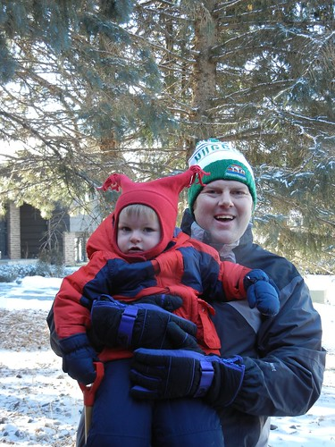 Outside fun with Daddy!