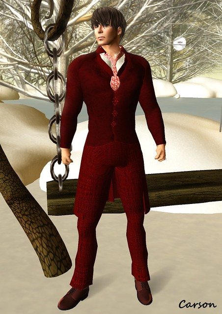 Top Katz - Christmas Suit, Duh! Red Leather Dress Shoes