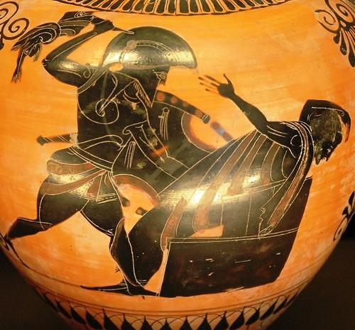 Neoptólemo ataca a Príamo
