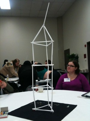 My team's tower from team building exercise