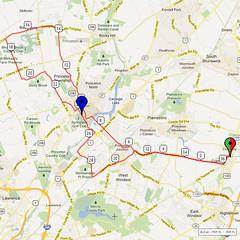 15. Bike Route Map. Cranbury NJ