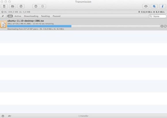 Transmission - Ubuntu torrent