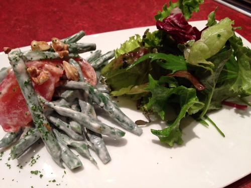前菜 インゲン豆とトマトのサラダ フロマージュブラン和え@ル・プレヴェール