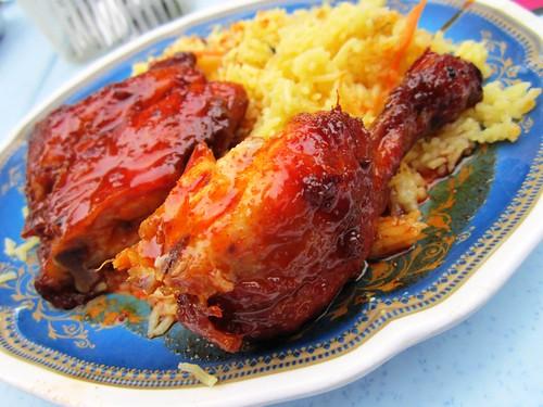 Nasi bryani ayam madu