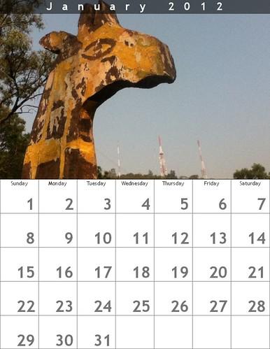 Oaxaca Calendar 2012: January