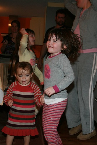 Cousins dancing