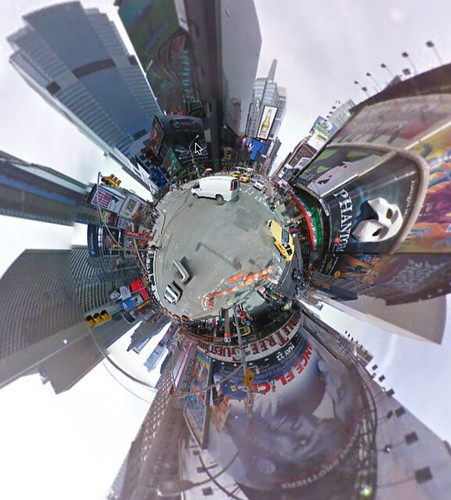 tiny planet times square above