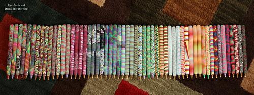 A rainbow of handmade pens