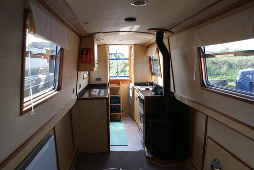 Inside new MD boat by Lochaber & Cornish