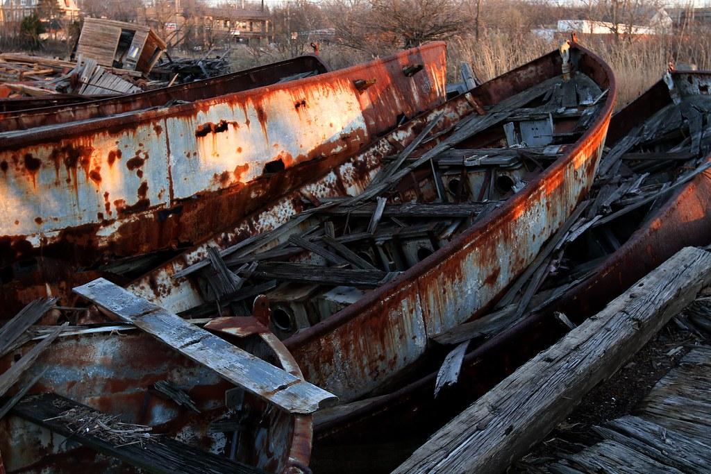 Rusty Boats at Arthur Kill Boat Graveyard