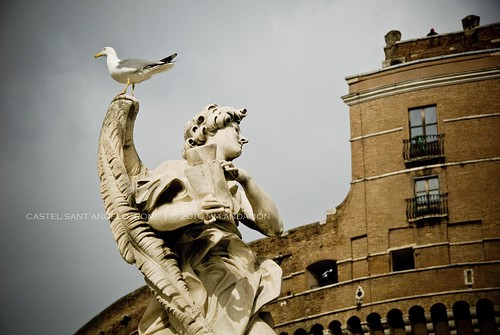 Angel with the subscription - Ponte Sant'Angelo