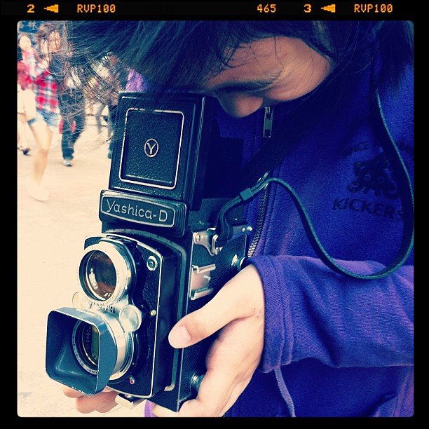 My Kid with Yashica-D TLR