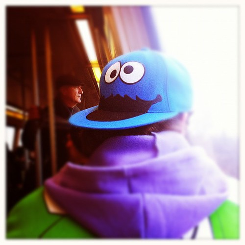 147: cookie monster on the metro.