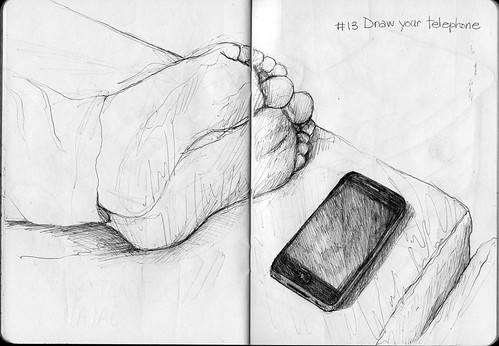 Sketchbook Project/EDM #13 Draw your phone