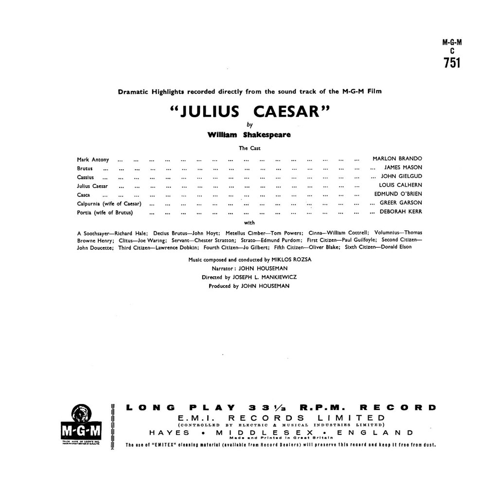 Miklós Rózsa - Julius Caesar