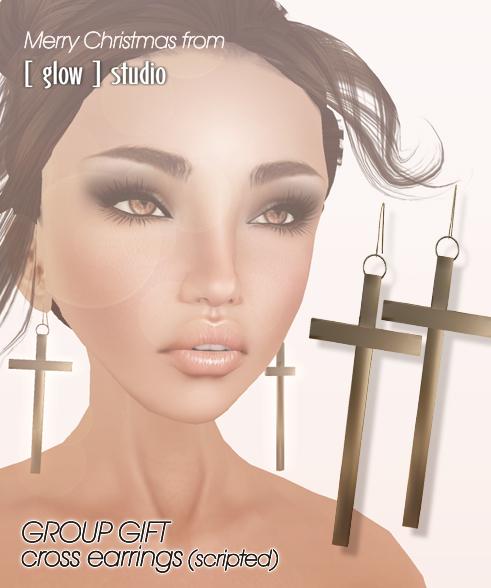 [ glow ] studio - Cross earrings