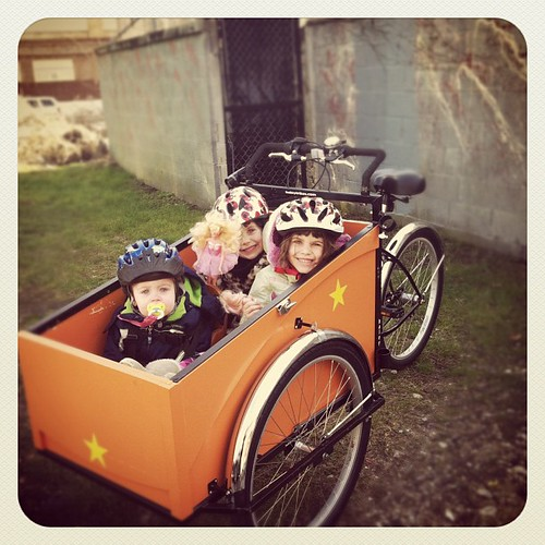 Beautiful day for a #cargobike ride to the #tussleatthetrestle cx ride by rebourneclothing.com