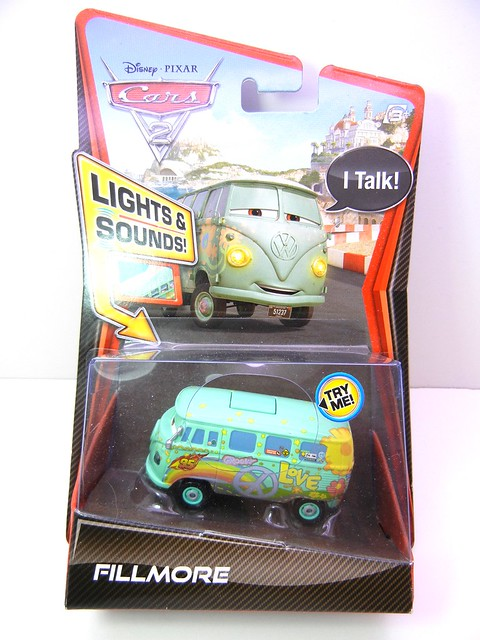 disney cars 2 lights and sounds fillmore