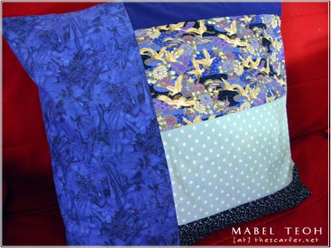 Simple Striped Blue Pillowcase